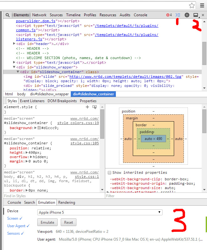 Chrome 开发者工具窗口